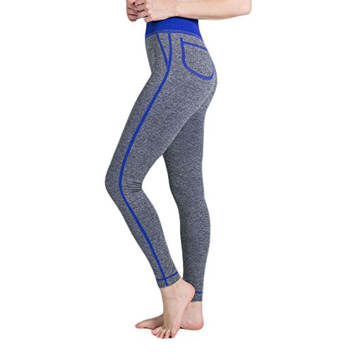 Pantalone Mesh Sexy Athletic Leggings Yoga Yoga Pants Pocket Leggings Donne Push Fitness Up False Pantaloni Morwind Di Da Pantaloni Sportivi Leggings Tuta Leggins Blue Donne Gym Yoga wnqYpzS4x