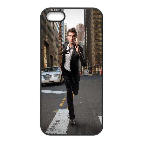 Guy Suit Rush Running Town Cars 79875 coque iPhone 5 5S cellulaire cas coque de téléphone cas téléphone cellulaire noir couvercle EOKXLLNCD24165