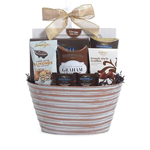 Gourmet Chocolate Assortment Gift Basket For 2019 Christmas Holiday Season With Improved Product Protective Packaging, Damage Free Guarantee