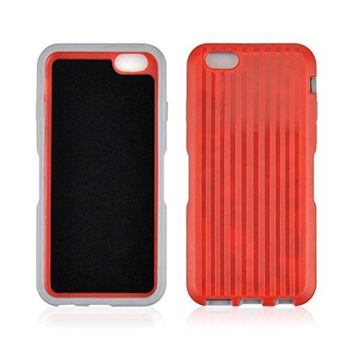 Phone Taschen & Schalen Kunststoff und TPU Kombi-Gehäuse mit drehbarem Clip und Halter für iPhone 6 Plus & 6S Plus ( Color : Red )