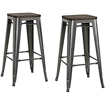 clean seat stools metal by replica tolix with bar shop stool silver bamboo