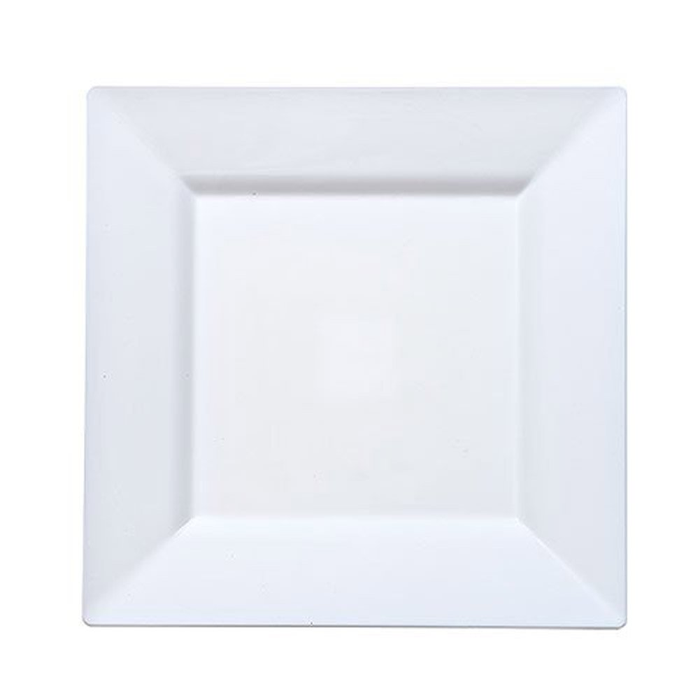 Amazon.com Lillian Tablesettings 10 Count Square Plastic Plate 8-Inch White Kitchen u0026 Dining  sc 1 st  Amazon.com & Amazon.com: Lillian Tablesettings 10 Count Square Plastic Plate 8 ...