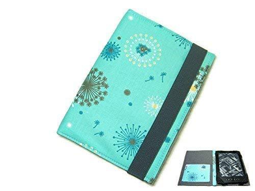 aufklappbare eBook Reader eReader Tablet Hülle Pusteblume türkis, Maßanfertigung, z.B. Kindle Paperwhite/Tolino Vision 4HD Maßanfertigung