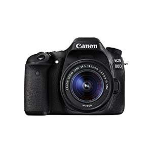 Canon EOS 80D Digital SLR Kit with EF-S 18-55mm f/3.5-5.6 Image Stabilization STM Lens - Black (Certified Refurbished)