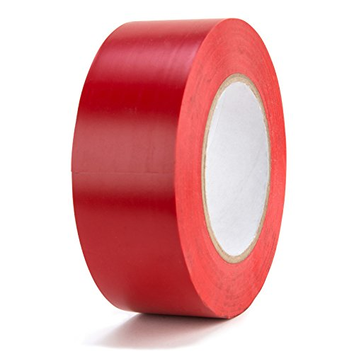 Marking Tape Red Aisle (Chu's Packaging Supplies Red Vinyl Aisle Marking Tape (Pack of 24))