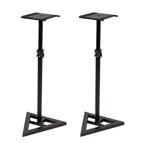 Price comparison product image Height Adjustable Studio Monitor Speaker Stand Pair Home Studio Concert Band DJ