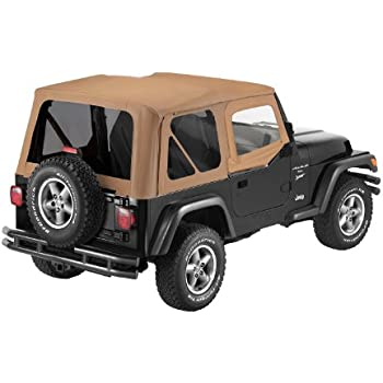 Bestop 79123-37 Spice Sailcloth Replace-A-Top Soft Top with Tinted Windows and Upper Door Skins for 1988-1995 Wrangler YJ