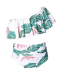 Blugibedramsh Bikini Swimsuit for Women Girls Bathing Suit Mother Daughter Swimwear
