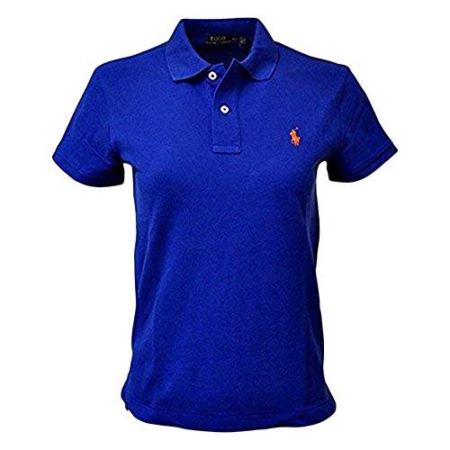 RALPH LAUREN Polo Men Medium Fit Interlock Polo Shirt (XL, StrongBlue) (Embroidered Interlock)