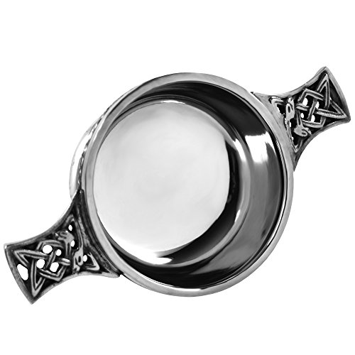 English Pewter Company Celtic Pewter Scottish Quaich Bowl Loving Cup Small ()