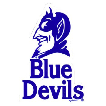 NCAA Duke Blue Devils Car Magnet with Mascot, Small, 2 Pack Duke Blue Devils Mascot
