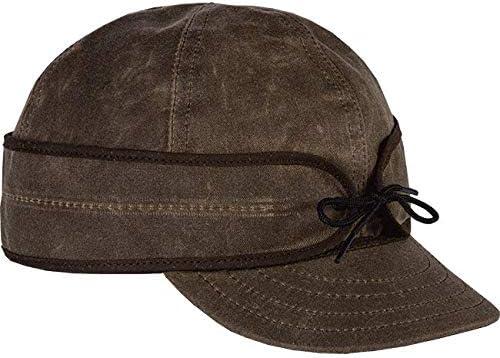 7 3//8 Dark Oak Stormy Kromer 50420 Waxed Cotton Cap