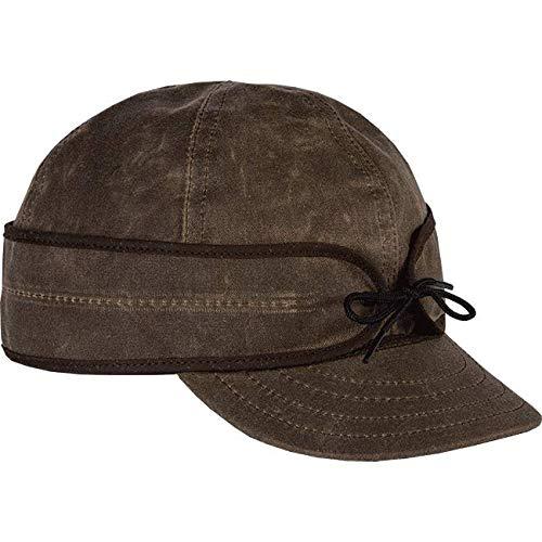 Stormy Kromer Mens Waxed Cotton Dark Oak Cap - 7 1/4