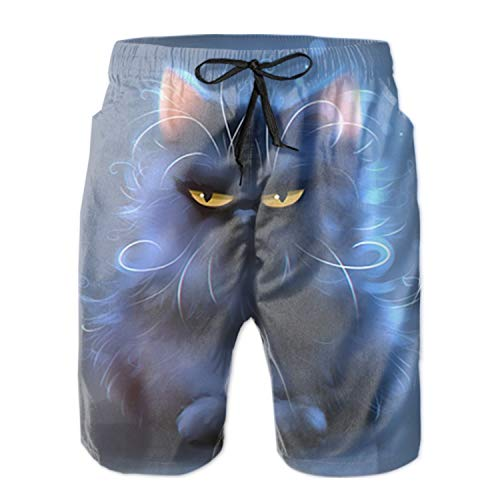 - Mens Slim Fit Shorts Quick Dry Swim Trunks with Pocket Male Spoiled Kitty Bathing Suits