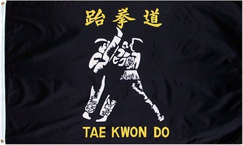 Other Flags Tae Kwon Do Flag - 3 foot by 5 foot Polyester (NEW)