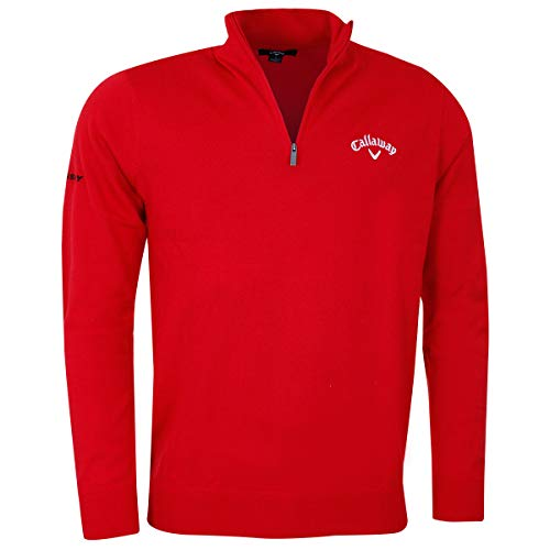 Callaway Golf 2019 Mens 1/4 Zip Blended Merino Thermal Pullover Sweater Lychee XL