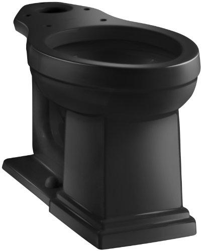 Kohler K-4799-7 Tresham Comfort Height Elongated Toilet Bowl, Black