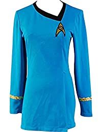Simple The Female Duty Uniform Dress Cosplay Costume Red/Blue