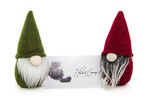7ProductGroup Handmade Christmas Gnome Ornaments For Men, Women & Kids | Well Crafted Mini Figurines Set For Home Décor, New Year's Eve Parties, Personalized Gifts, Table Centerpieces, Garden & More