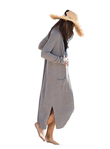 [ベアフットドリームス]Barefoot Dreams Womens Long Duster B496 top.grey XS