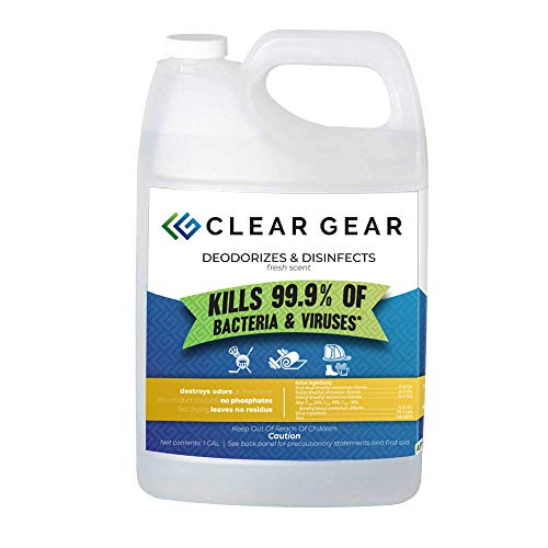 (Clear Gear Sports Spray Case (6 Count) of 1 Gallon Bottles - Disinfecting and Deodorizing Spray Kills MRSA, Staph and Strep and Eliminates the Funk in Athletic Facilities, Gyms and Training Centers)