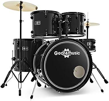 Batería BDK-1 de Principiante de Tamaño Completo de Gear4music Black: Amazon.es: Instrumentos musicales