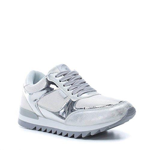 Sneaker Damen XTI Silber 046991 Plata Silver 8xqwpTE