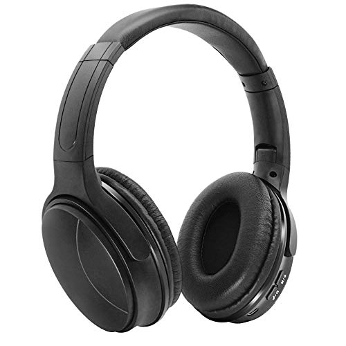 BlackSpider Headphones with Mic, Bluetooth V5 Noise Cancelling QuietComfort, Powerful Stereo Sound, 250H Standby, USB port, Soft Protein Earpads, Built-in Mic, Wireless Gaming, Gym