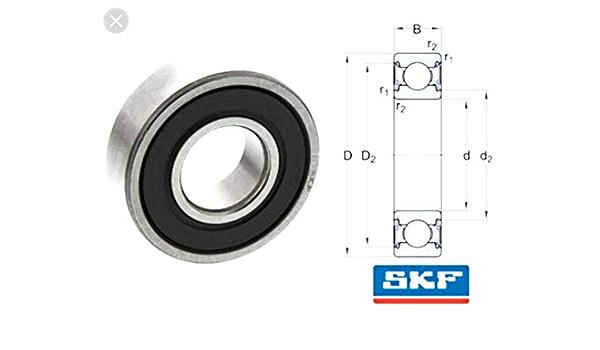 SKF 6309-2Z Deep Groove Ball Bearings 45x100x25 mm