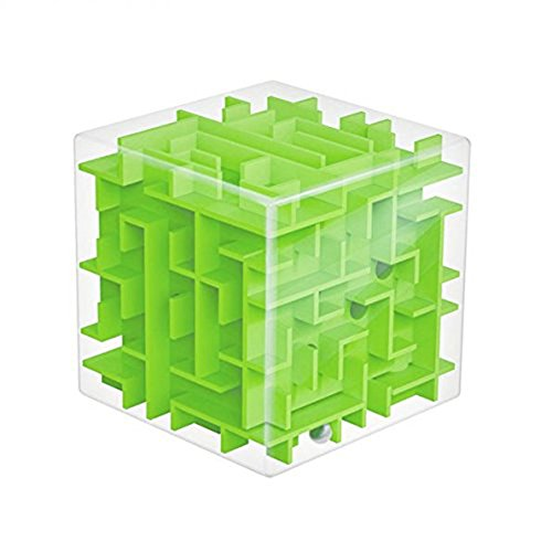Trekbest 3D Magic Cube Puzzle Box Sequential Puzzles as Birthday Gift (Green)