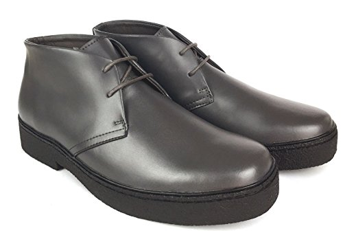 CITI British Style - Chukka High Top Mens Leather Shoes (Playboy Style # 5612-BLACK-9.5)