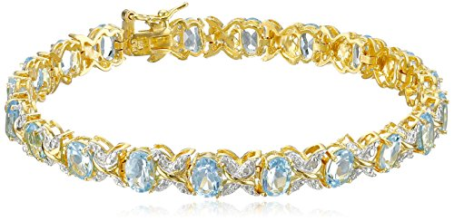 18k Gold and Rhodium Plated Sterling Sil - Sterling Diamond Two Tone Bracelets Shopping Results