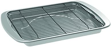 Nordic Ware Oven Crisp Baking Tray, 15&quotL x 11.38&quotW x 1.25&Quoth, Silver