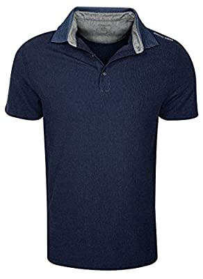 Calvin Klein Men's Solid Pique Polo with Birdseye Collar