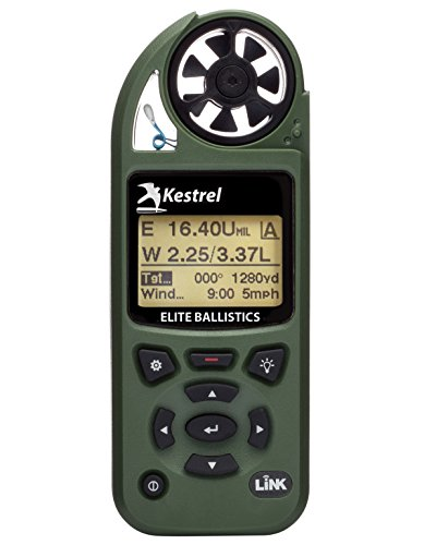 Kestrel Elite Weather Meter with Applied Ballistics and Bluetooth Link, Olive Drab