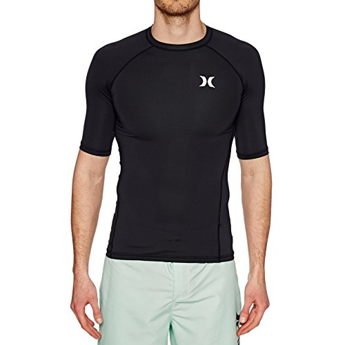 Hurley Pro Light Short Sleeve Rashguard Medium Black