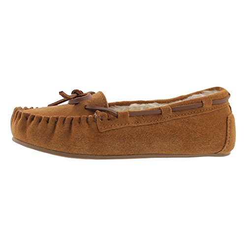 SoftMoc Girls' Cady 2 Ballerina Lined Moccasin Chestnut 4 M