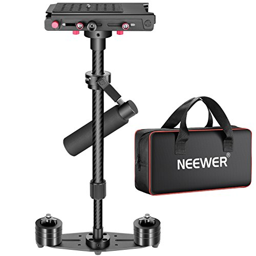 Neewer 27 inches/68centimeters Adjustable Carbon Fiber Alloy Handheld Stabilizer with 1/4-inch Quick Release Plate for Camcorders,DV,DSLR Cameras up to 8.8pounds/4kilograms
