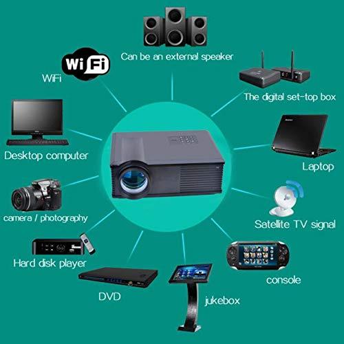 ホームシアターシネマLCDプロジェクターHDMI AV USB VGA B07QVKSXQQ ブラック
