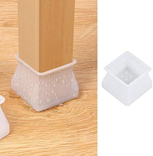 Juego de 32 fundas protectoras de silicona para muebles para patas de silla patas redondas patas Juan Wen para evitar ara/ñazos y ruidos