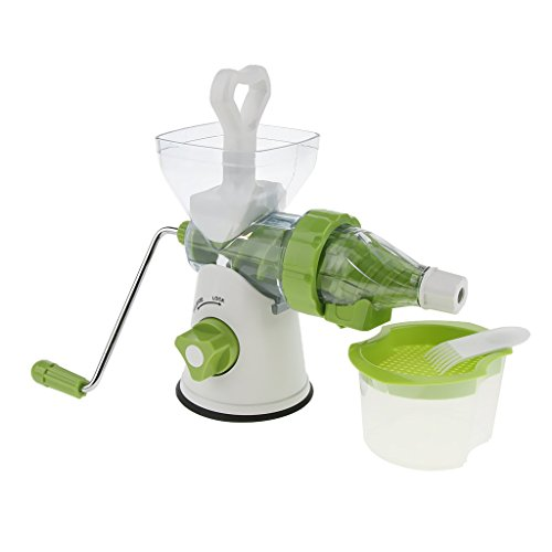MagiDeal Handle Juicer Juice Extractor Cold Press Wheatgrass Carrot Icecream Blender, White by Unknown