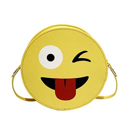 Women Donalworld Chain Crossbody Hard Emoji Purse Handbag Shoulder Case Pattern8 dOwOHq