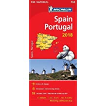 Spain & Portugal 2018 National Map 734 2018