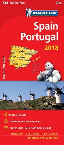 Spain & Portugal 2018 National Map 734 2018 (Michelin National Maps)
