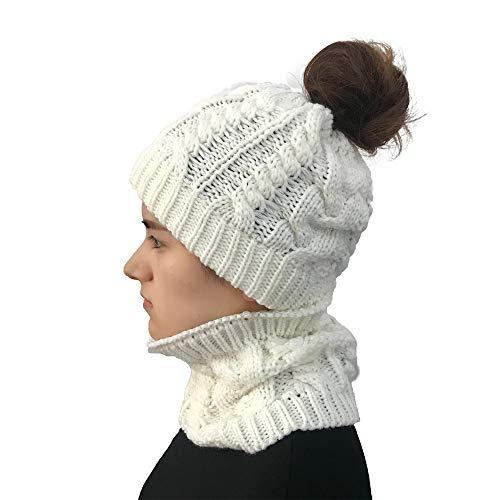 URIBAKE Women's Crochet Beanie Hat Cotton Knitted Outdoor Hats Holey Autumn Winter Warm Cap