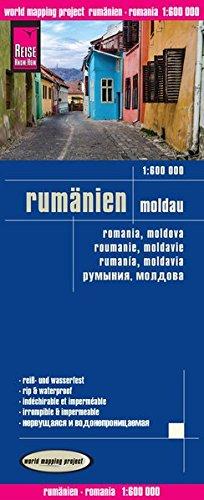 Reise Know-How Landkarte Rumänien, Moldau (1:600.000): world mapping project