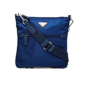 Prada Tessuto Nylon Sport Blue Messenger Crossbody Bag 1BH716