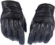 Lioobo 1 par de luvas de couro para o inverno para o dia a dia para dirigir e motociclista