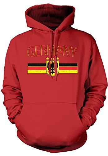 Amdesco Men's Germany Flag and Eagle Crest, German Flag Hood