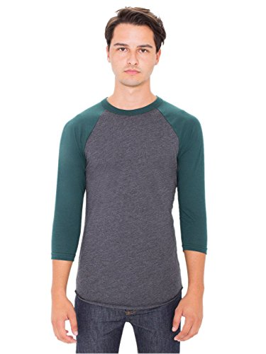 american-apparel-mens-poly-cotton-3-4-sleeve-raglan-shirt-heather-black-forest-x-large